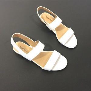 Vaneli Sandals Sling Back White 8 New